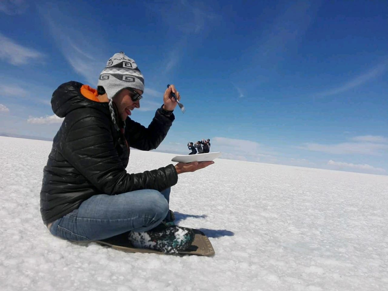 Day 1: Uyuni - Uyuni salt flats ( L, D)